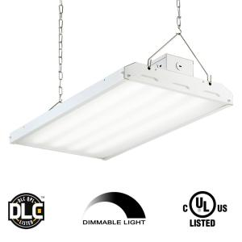 90 Watt 2 Ft White Integrated Led Backlit High Bay Hanging Light With 11400
