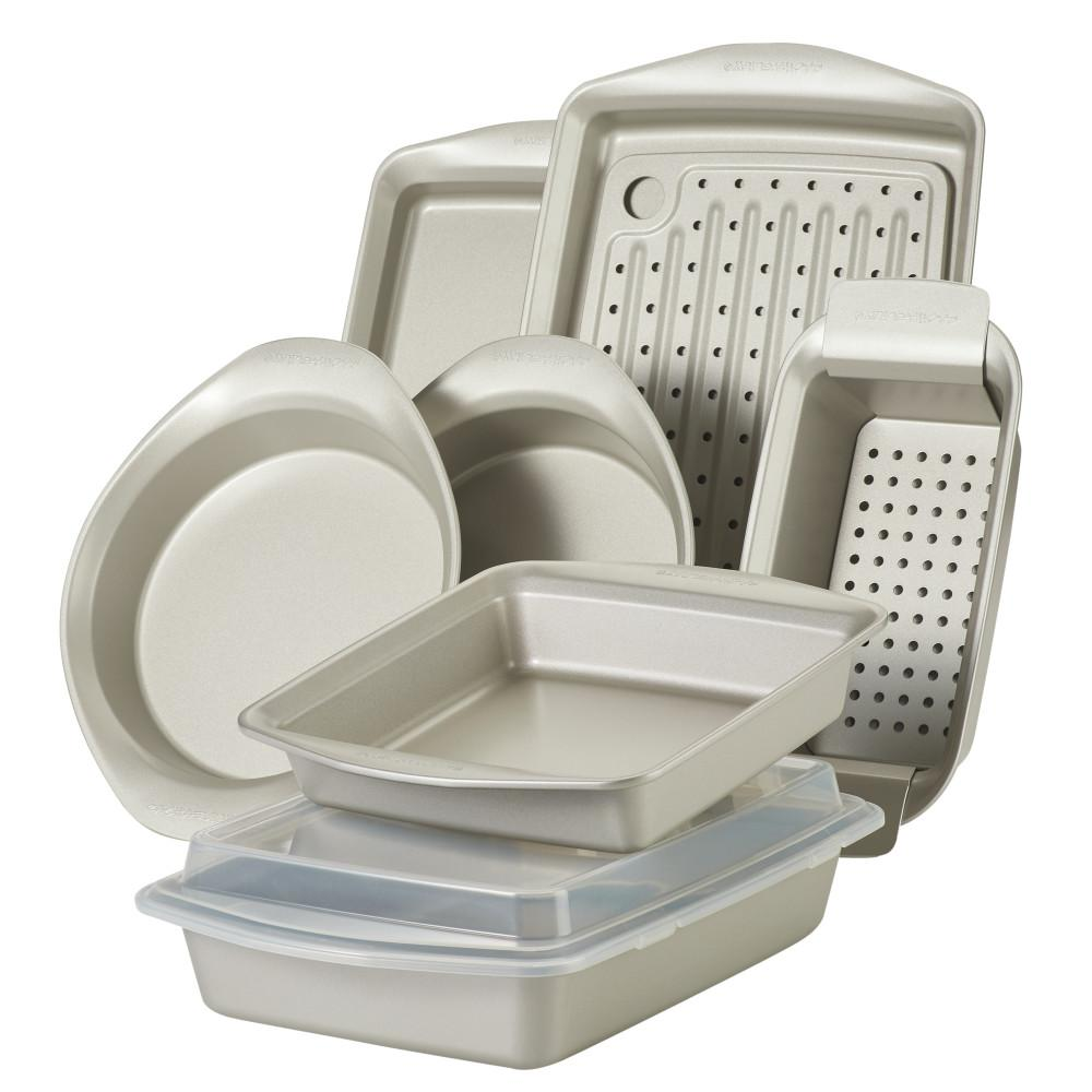 Nonstick Bakeware Set, 10-Piece, Silver