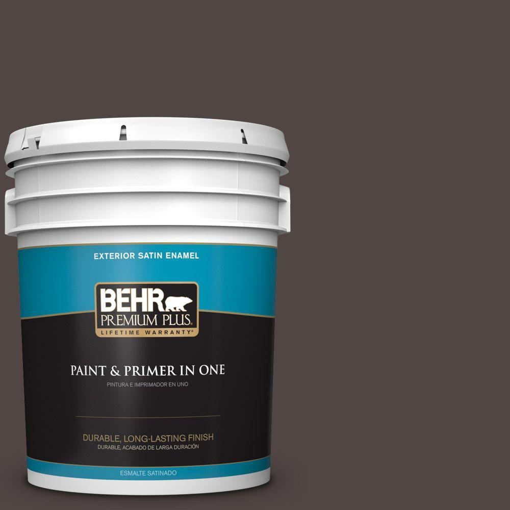 BEHR Premium Plus 5-gal. #T12-13 Tribal Drum Satin Enamel Exterior Paint