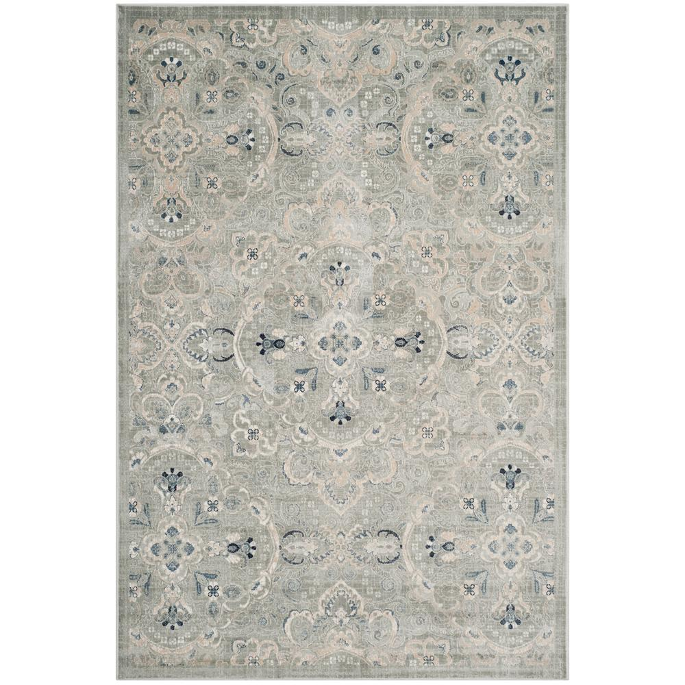 Safavieh Persian Garden Gray/Blue 8 Ft. X 11 Ft. Area Rug