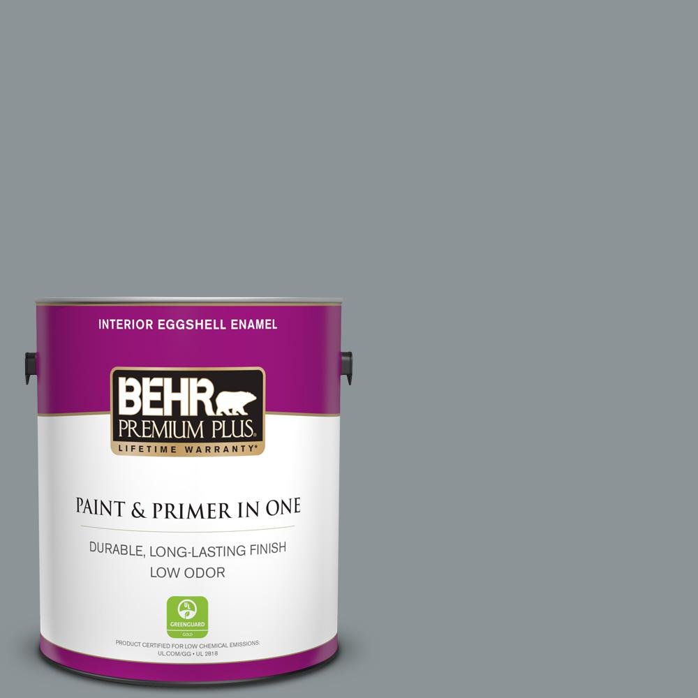 BEHR Premium Plus 1 gal. #N450-4 Moonquake Eggshell Enamel Low Odor Interior Paint and Primer in One