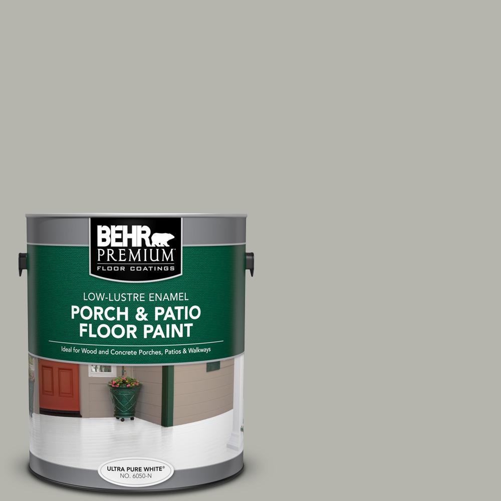 BEHR Premium 1 gal. #PPU25-08 Heirloom Silver Low-Lustre Enamel Interior/Exterior Porch and Patio Floor Paint