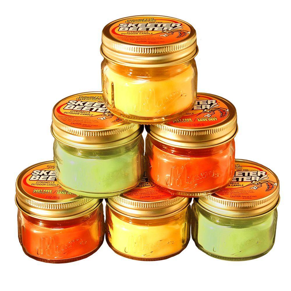 3 oz. Mason Jar Citronella Scented Candles (6-Pack)