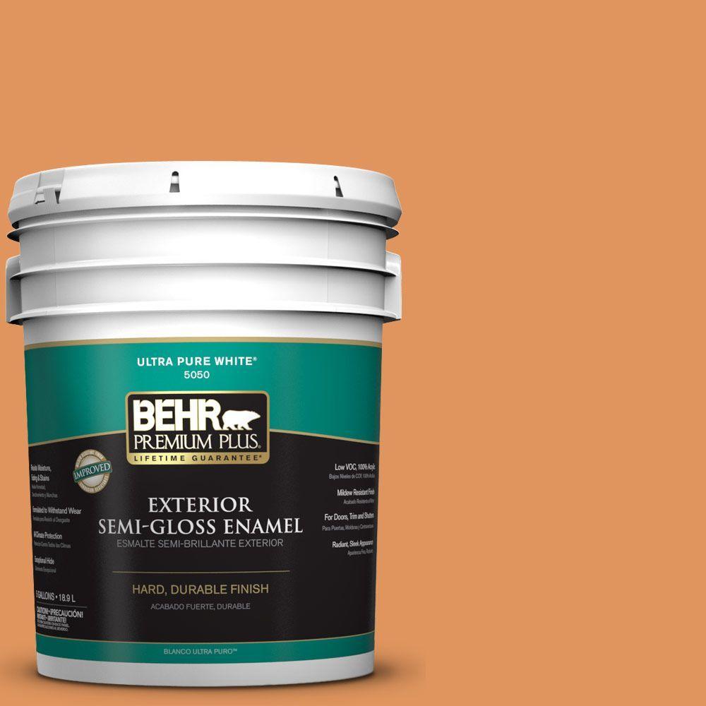 5-gal. #M230-6 Amiable Orange Semi-Gloss Enamel Exterior Paint