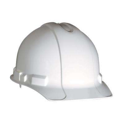 White Non-Vented Hard Hat with Ratchet Adjustment (Case of 6)