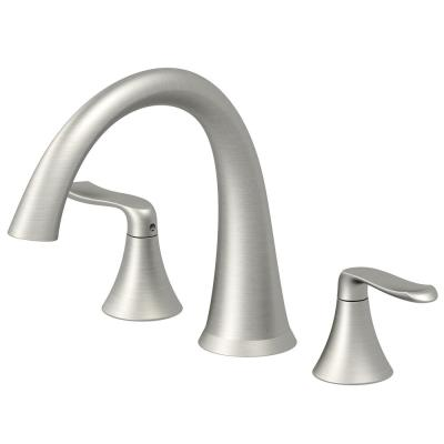 PICCOLO 2-Handle Deck Mount Roman Tub Faucet in Brushed Nickel