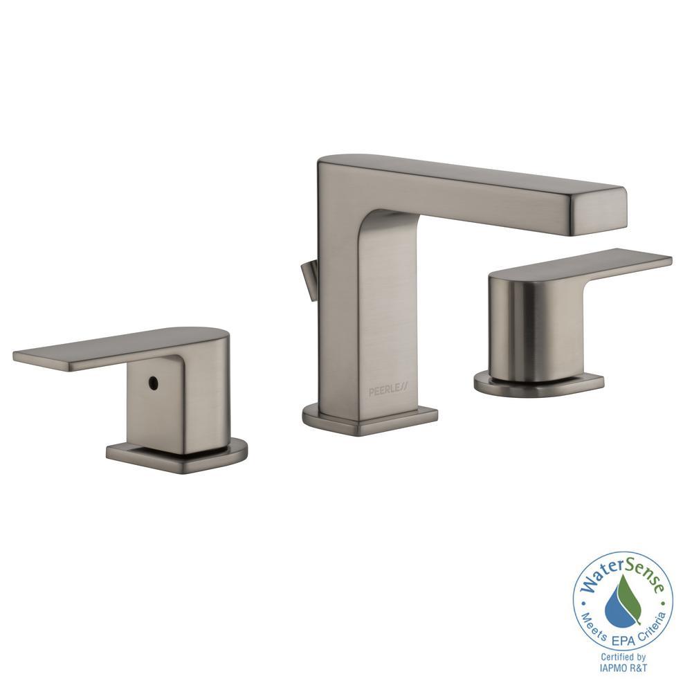 Peerless Xander 8 in. Widespread 2-Handle Bathroom Faucet in Brushed ...