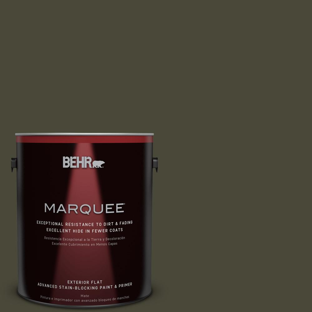 1 gal. #T18-11 Unplugged Flat Exterior Paint