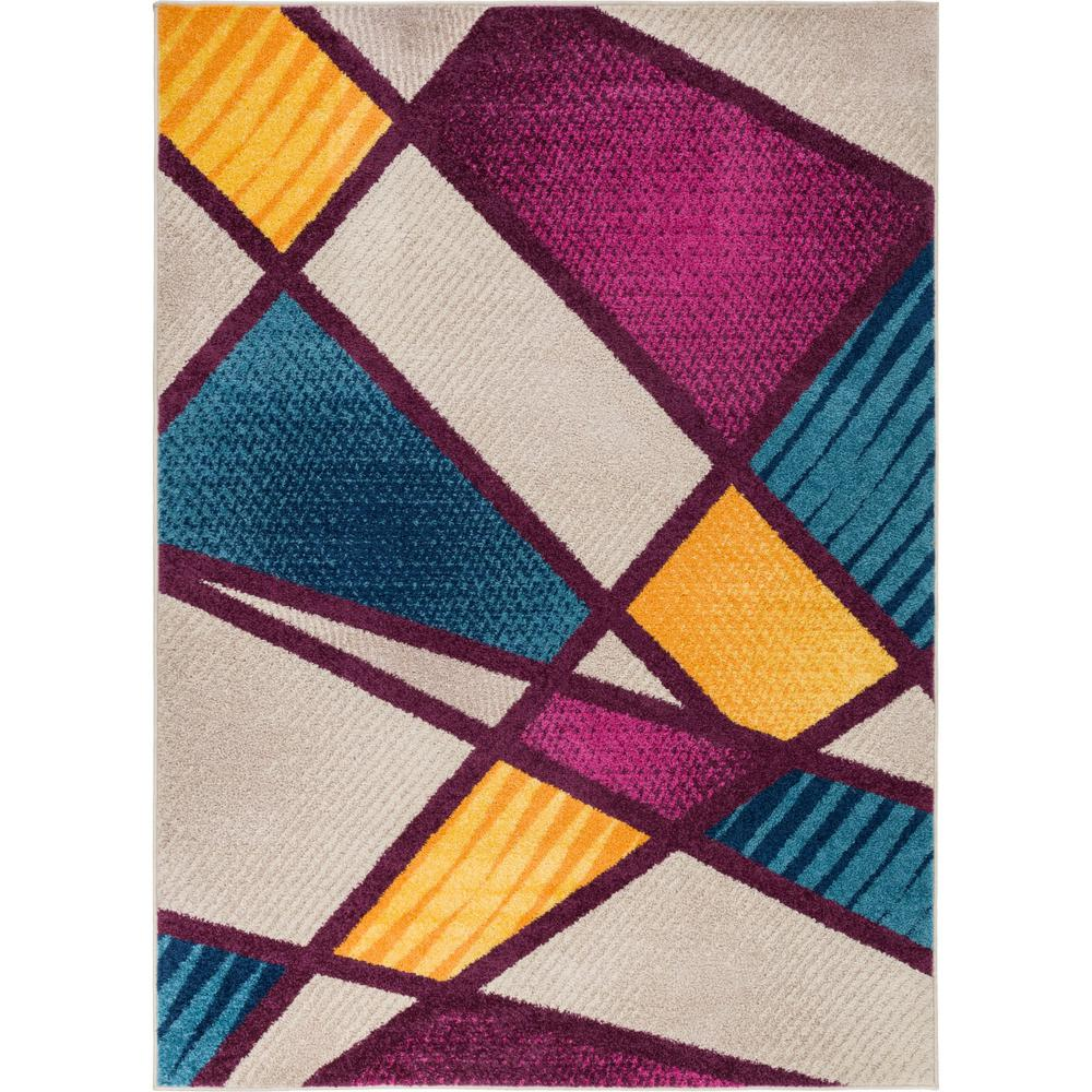 Purple Triangle Rug: Well Woven Mystic Broadway Multi 5 Ft. X 7 Ft. Bold Shapes