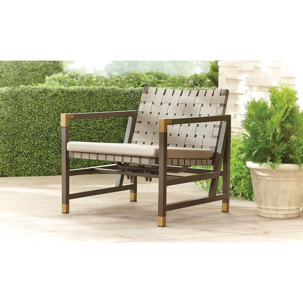 Brown Jordan Form Patio Motion Lounge Chair in Sparrow -- STOCK