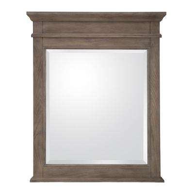 Schofield 26 in. W x 32 in. H Framed Wall Mirror in Antique Ash
