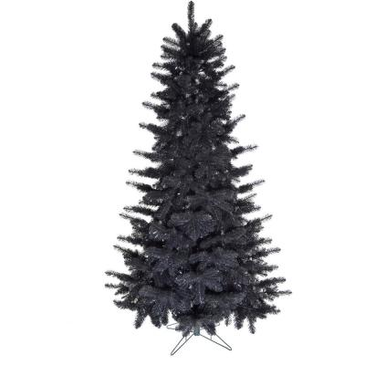 7 ft. Spooky Black Tinsel Tree