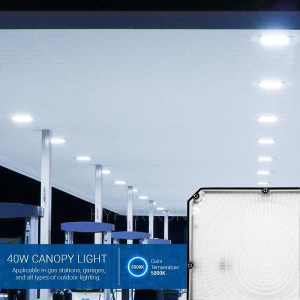 Warehouse UL DLC 75 Watt High Bay Canopy LED for Light Gas Station