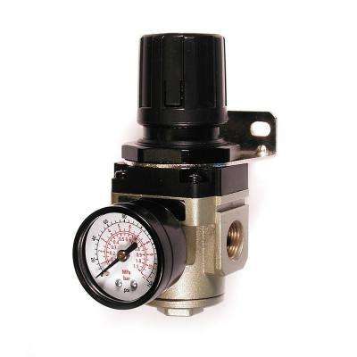 3/8 in. NPT Intermediate Air Regulator with Steel-Protected Gauge
