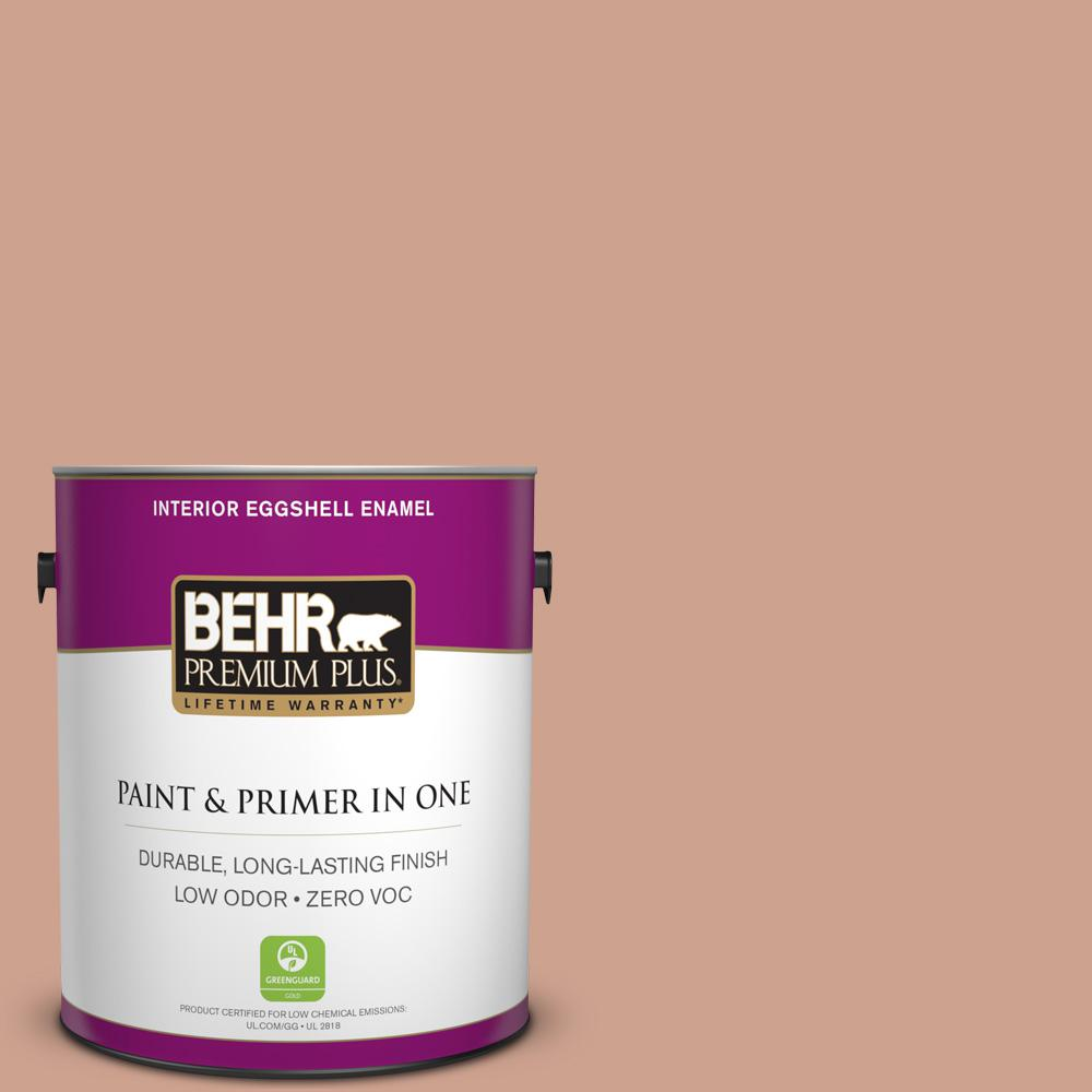 BEHR Premium Plus 1-gal. #230F-4 Autumn Malt Zero VOC Eggshell Enamel Interior Paint
