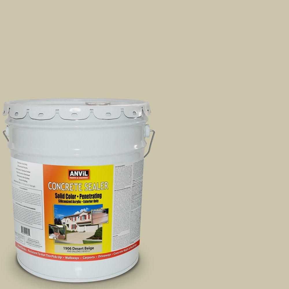 ANViL 5-gal. Desert Beige Siliconized Acrylic Solid Color Exterior Concrete Sealer-DISCONTINUED