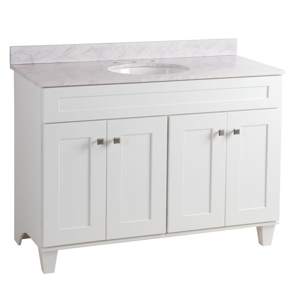 Home Decorators Collection Creeley 48 in. Vanity in White...
