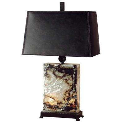 30 in. Multi-Colored Marble Table Lamp