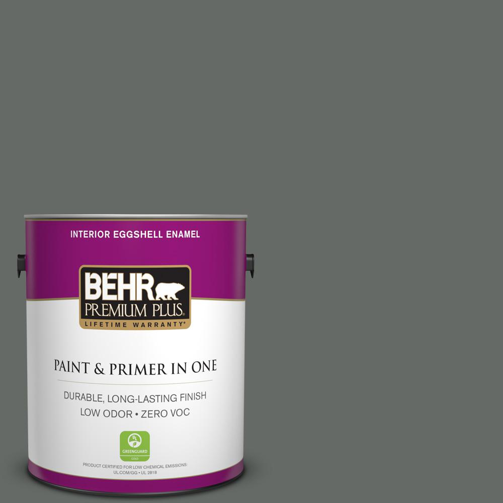 BEHR Premium Plus 1-gal. #BNC-26 Lunar Basalt Eggshell Enamel Interior Paint