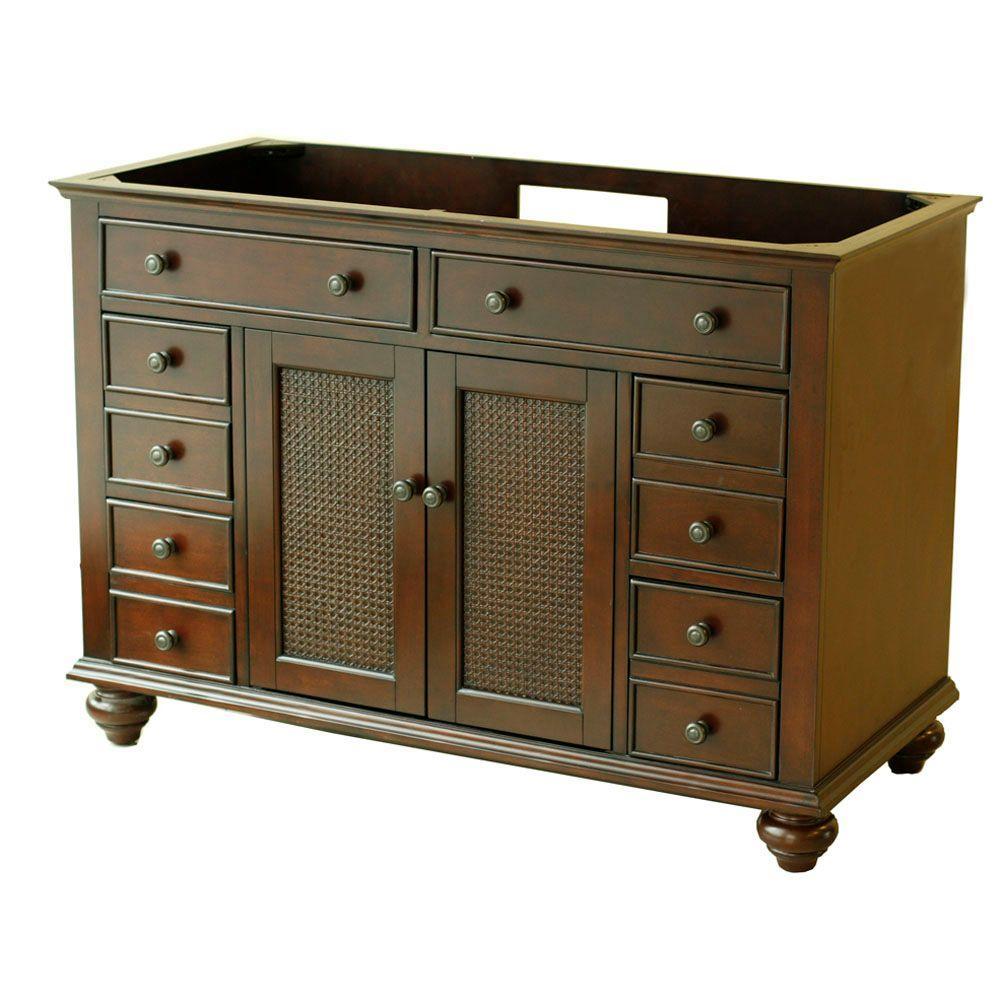 Pegasus Bimini 48 in. W x 21.875 in. D x 33.5 in. H Vanity Cabinet Only in Espresso