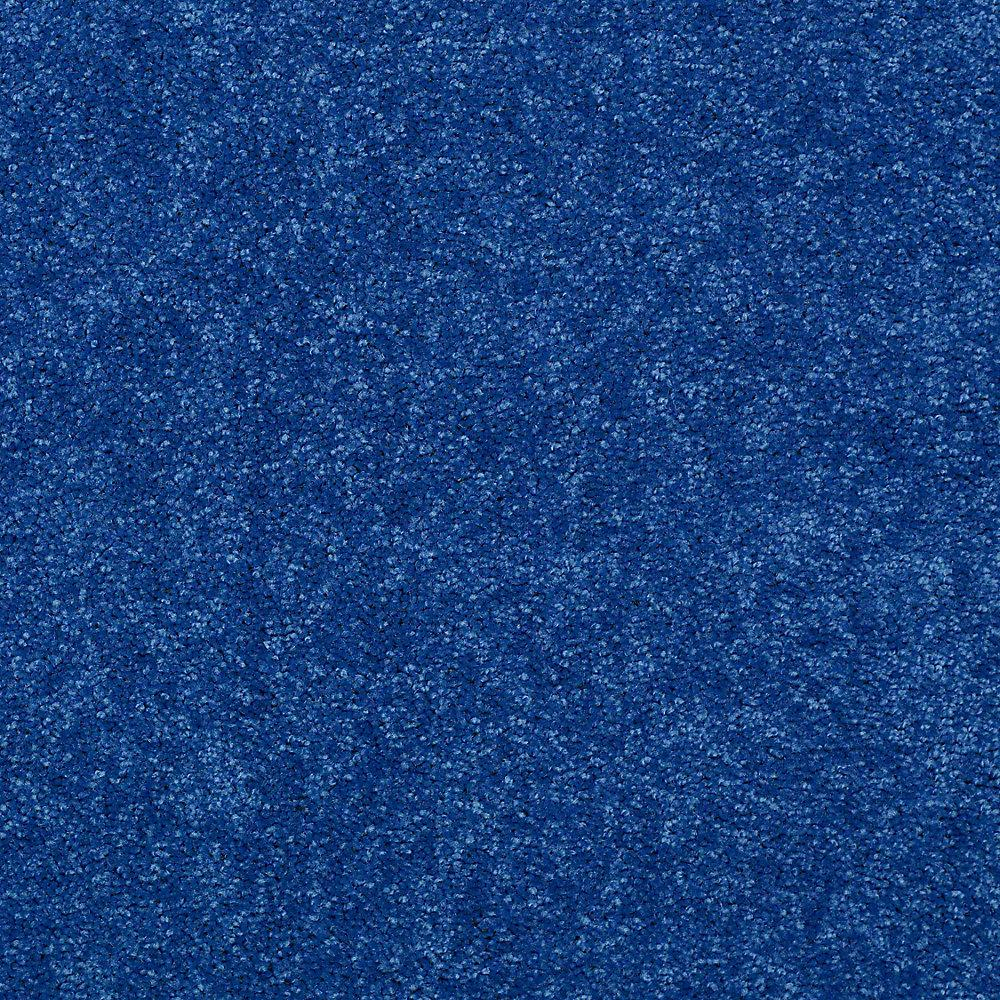 Watercolors I Color Navy Texture 15 Ft Carpet