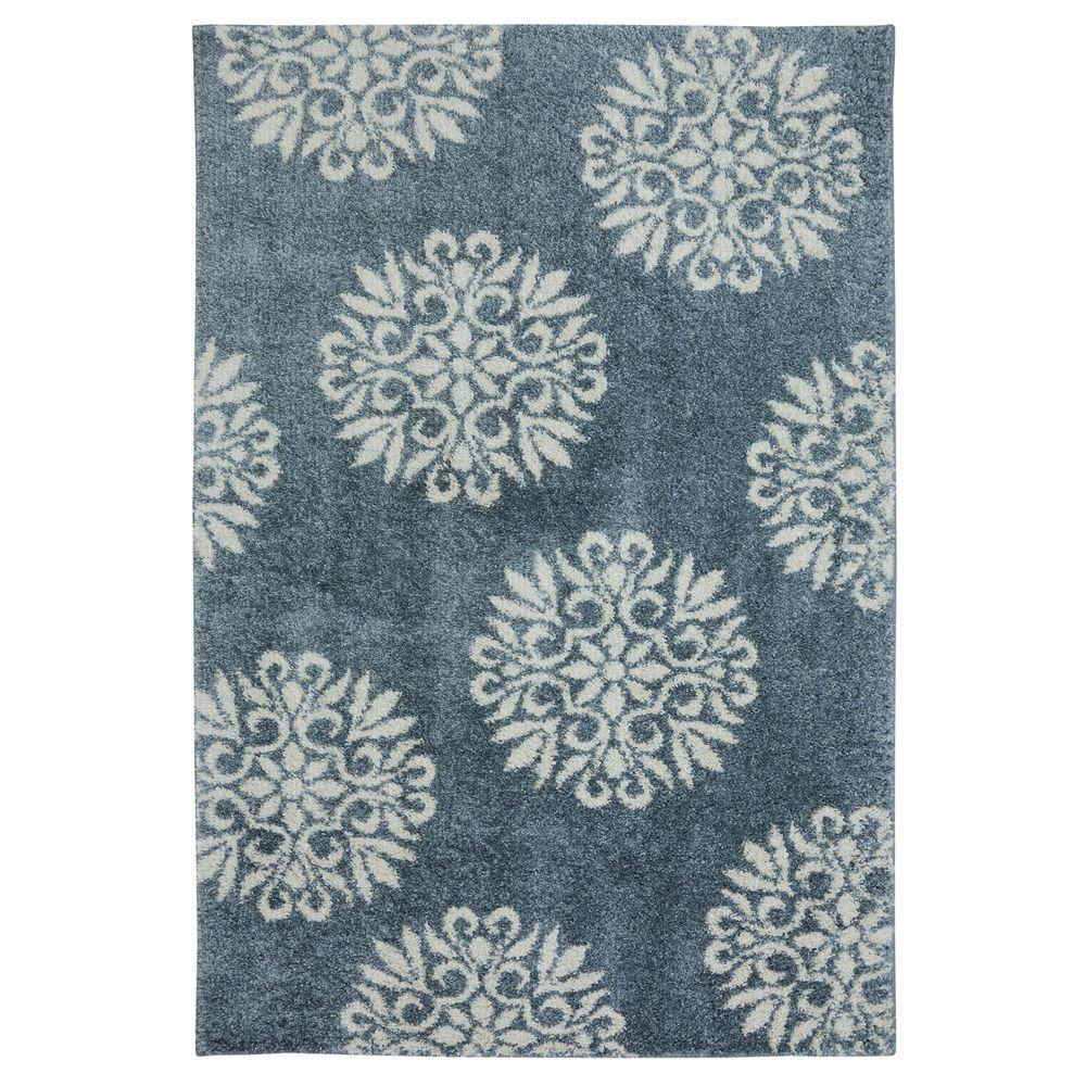 Exploded Medallions Blue Woven 3 Ft X 6 Area Rug