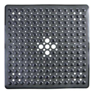 21 in. x 21 in. Square Shower Mat in Black