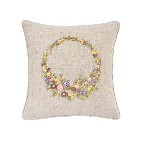 16 in. x 16 in. Spring Wreath Pillow
