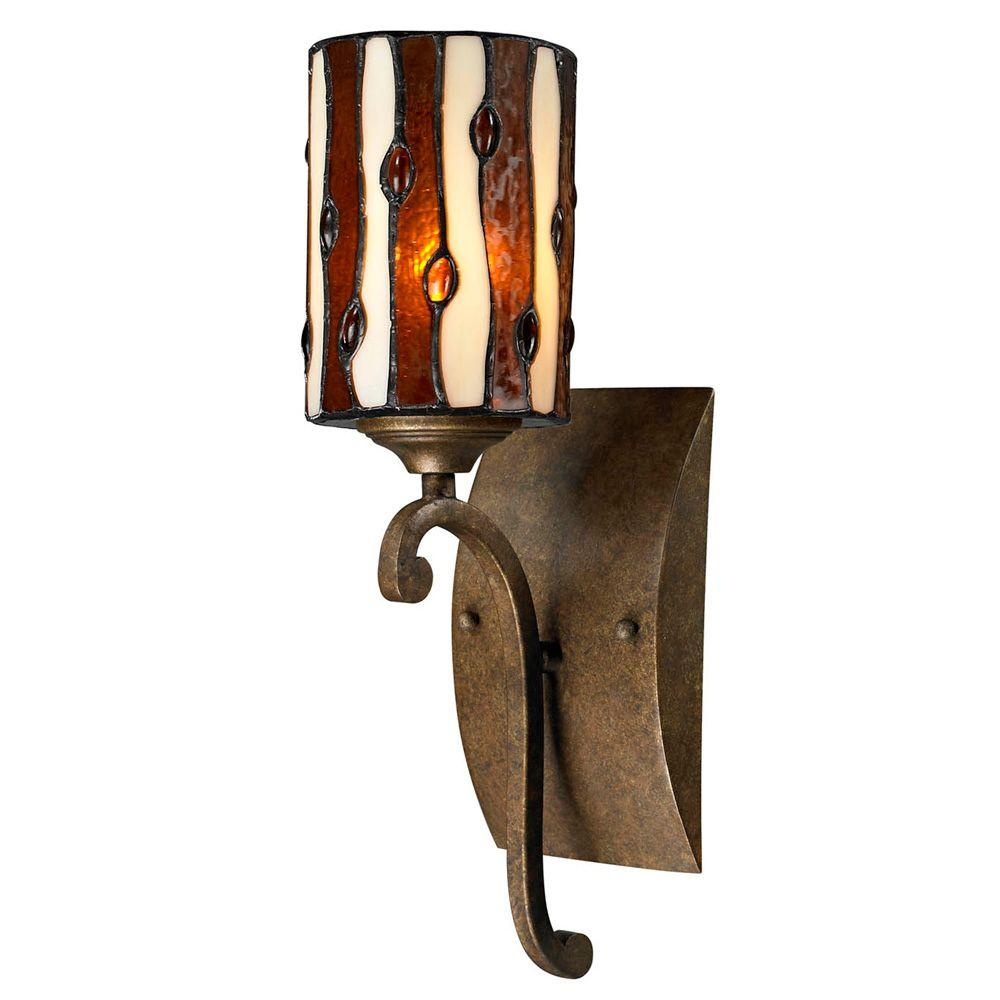 Diamond Hill 1-Light Antique Golden Bronze Sconce