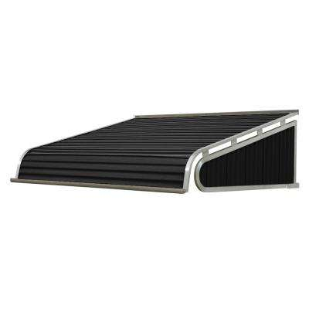 8 ft. 1500 Series Door Canopy Aluminum Awning (18 in. H x 48 in. D) in Black