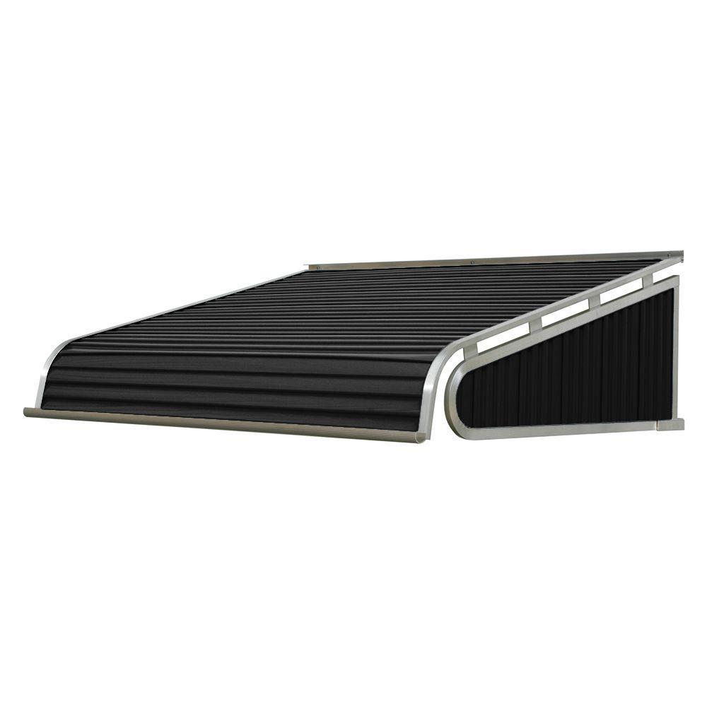 8 ft. 1500 Series Door Canopy Aluminum Awning (21 in. H x 60 in. D) in Black