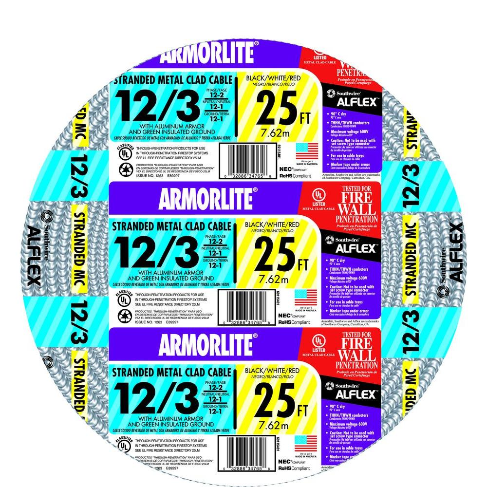 12 3 armored cable wire the home depot 123 keyboard keysfo Choice Image
