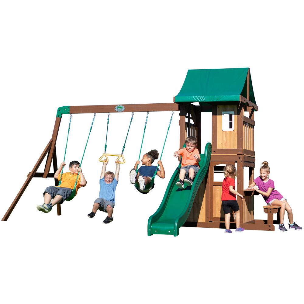 Backyard Discovery Lakewood All Cedar Wooden Swing Set ...