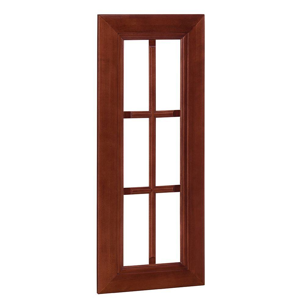 Home Decorators Collection Lyndhurst Assembled 15x30x0.75 in. Mullion Door in Cabernet