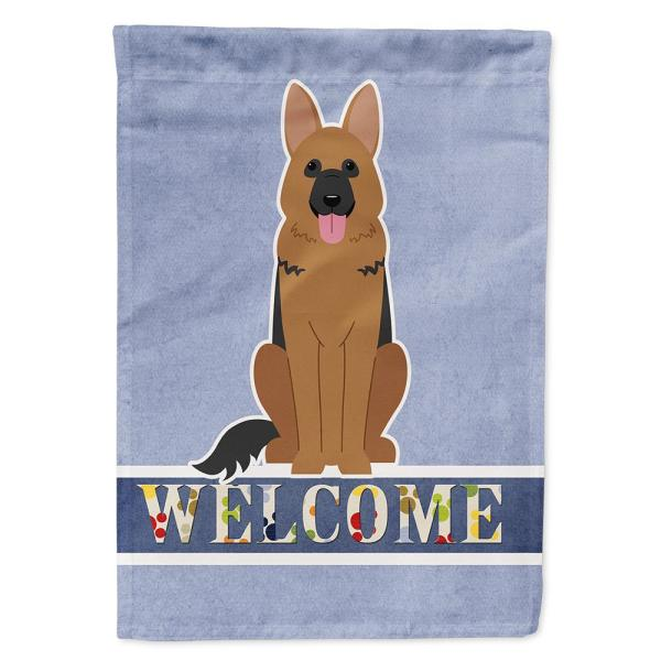 Caroline S Treasures 28 In X 40 In Polyester German Shepherd Welcome Flag Canvas House Size 2 Sided Heavyweight Bb5648chf The Home Depot