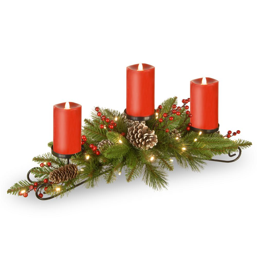 Christmas Candles Holders Indoor Christmas Decorations The Home Depot