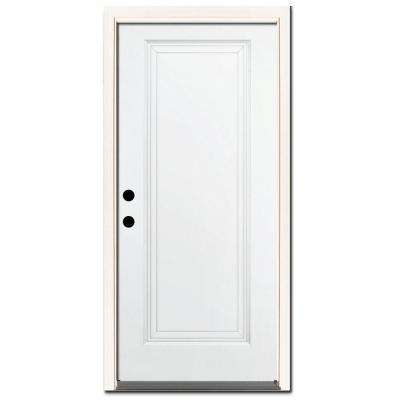 Premium 1-Panel Primed Steel Prehung Front Door