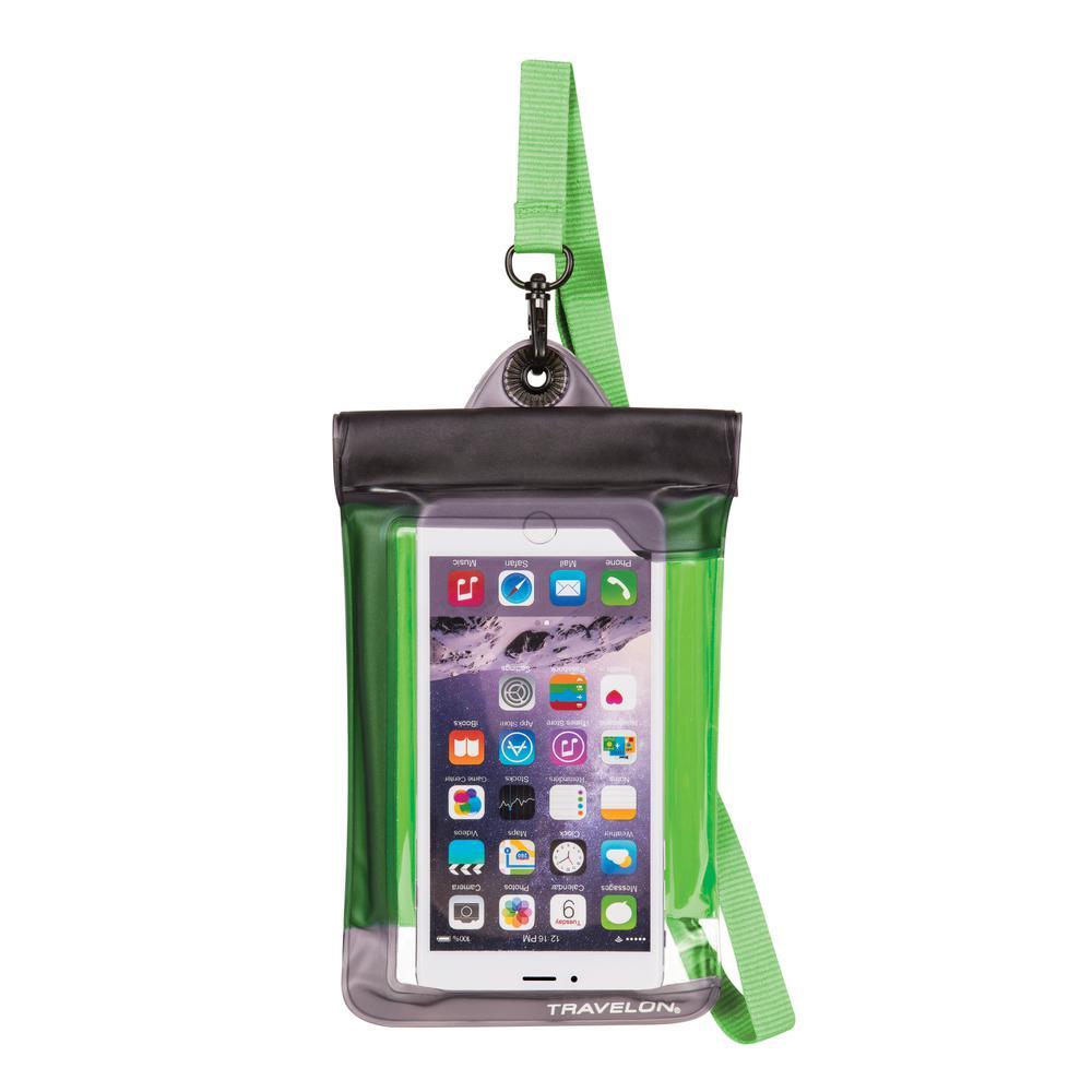 Green Waterproof Smart Phone Pouch