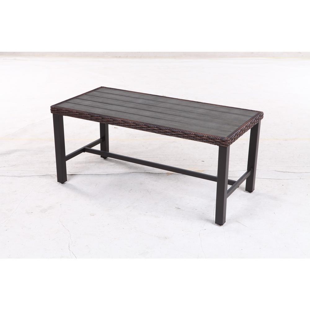 Hampton Bay Harper Creek Metal Outdoor Coffee Table-735