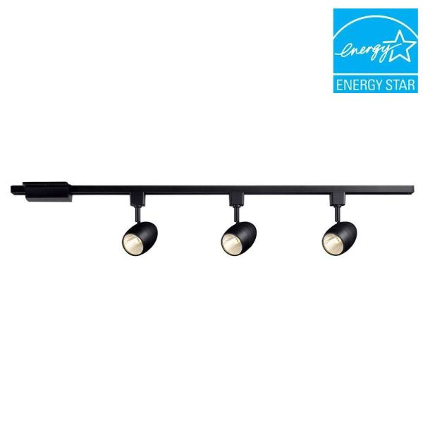 39.37 in. 3-Light Black Dimmable Integrated LED Track Lighting Kit