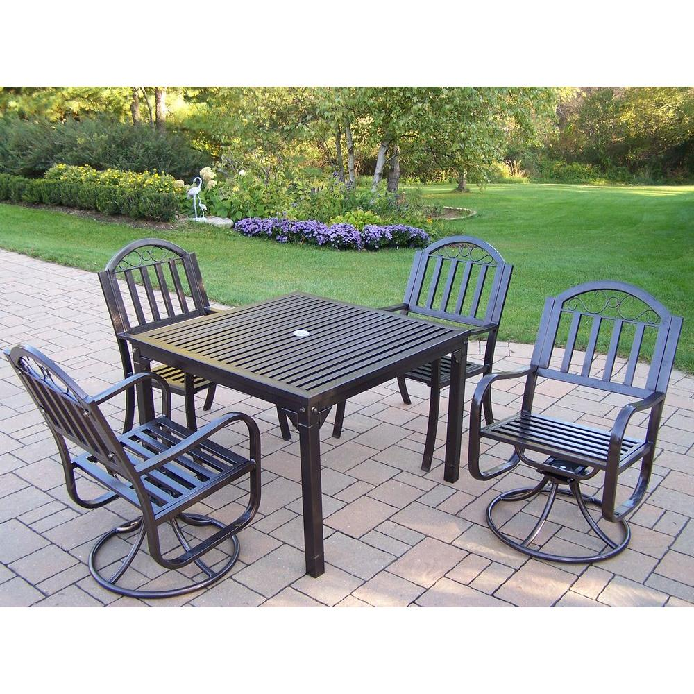 Rochester 5-Piece Swivel Patio Dining Set