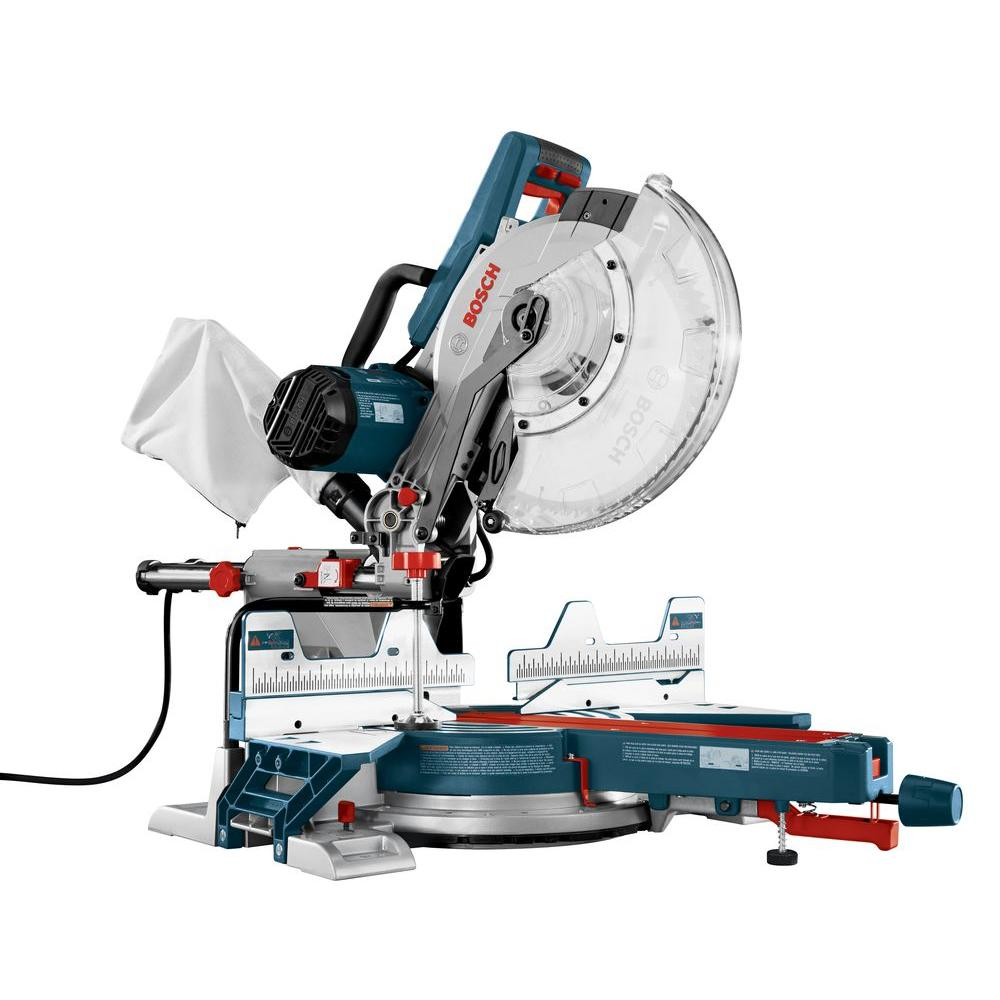 Bosch 15 Amp Corded 12 in. Dual-Bevel Sliding Compound Miter Saw with 60-Tooth Carbide Saw Blade