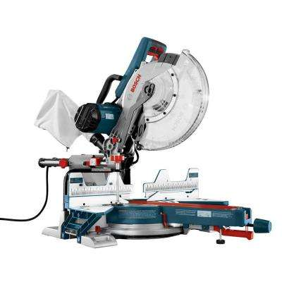 15 Amp Corded 12 in. Dual-Bevel Sliding Compound Miter Saw with 60-Tooth Carbide Saw Blade