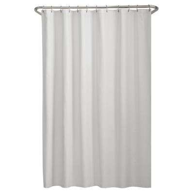 Microfiber 70 in. W x 72 in. H Shower Curtain Liner in White