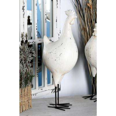 24 in. Rooster Polystone Sculpture
