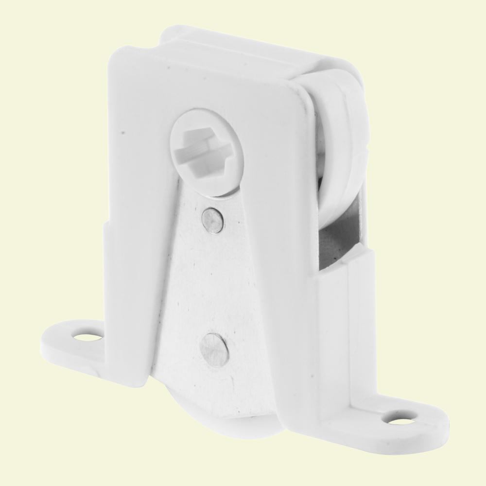 Prime Line White Plastic Sliding Screen Door Roller Andersen Doors (2 Pack)