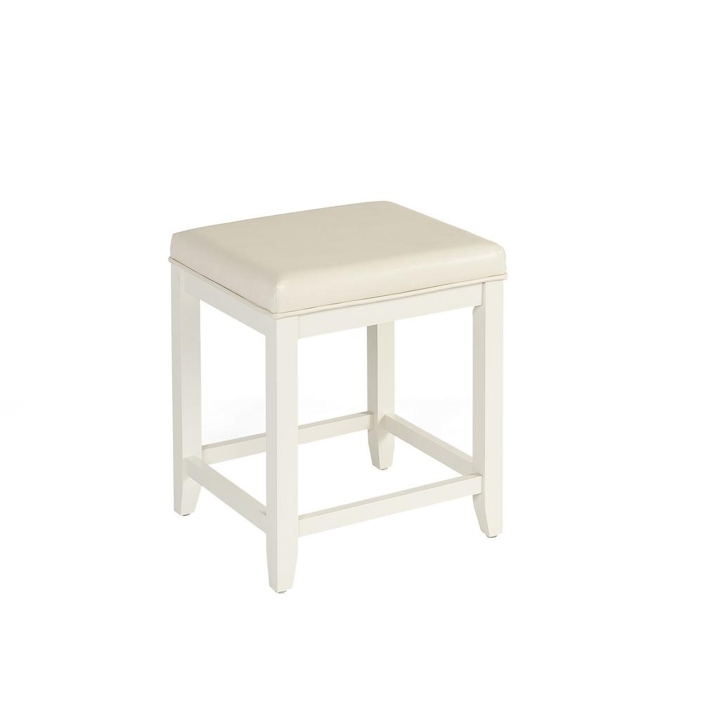 Incredible Crosley Furniture Vista 15 75 In X 19 25 In Vanity Stool In White Alphanode Cool Chair Designs And Ideas Alphanodeonline