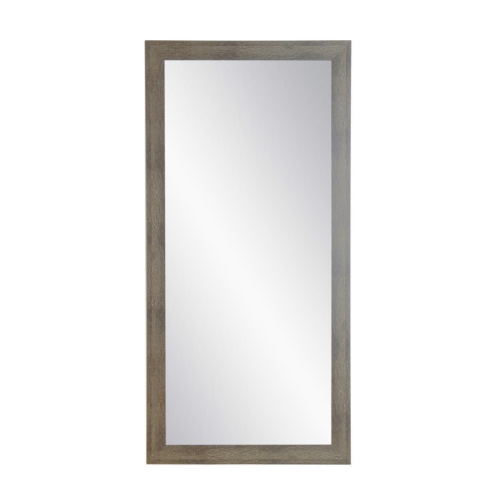 Oversized Green/White Composite Coastal Farmhouse Southwestern Mirror (66 in. H X 32 in. W)