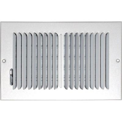 10 in. x 6 in. Ceiling/Sidewall Vent Register, White with 2-Way Deflection