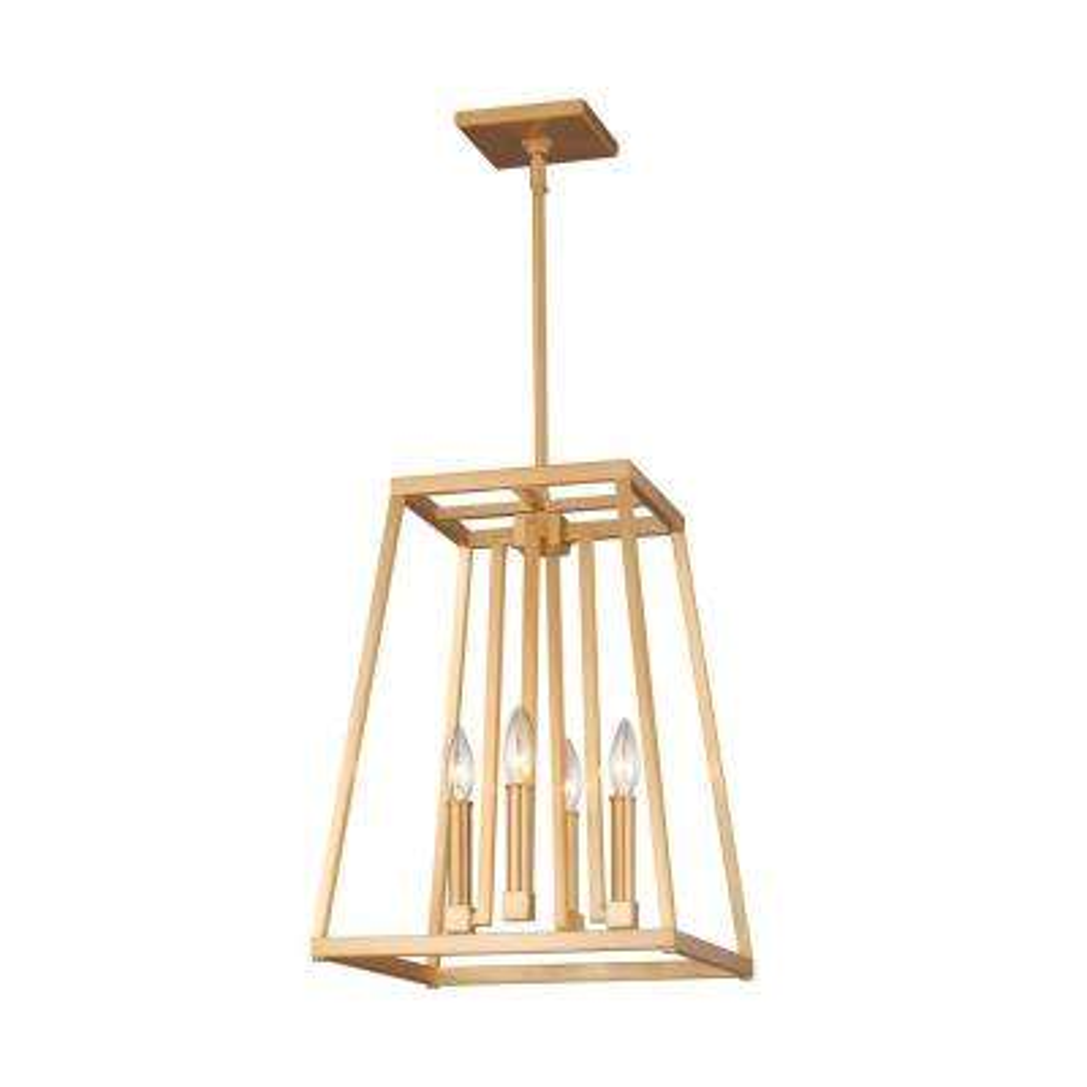 Conant 4-Light Gilded Satin Brass Pendant